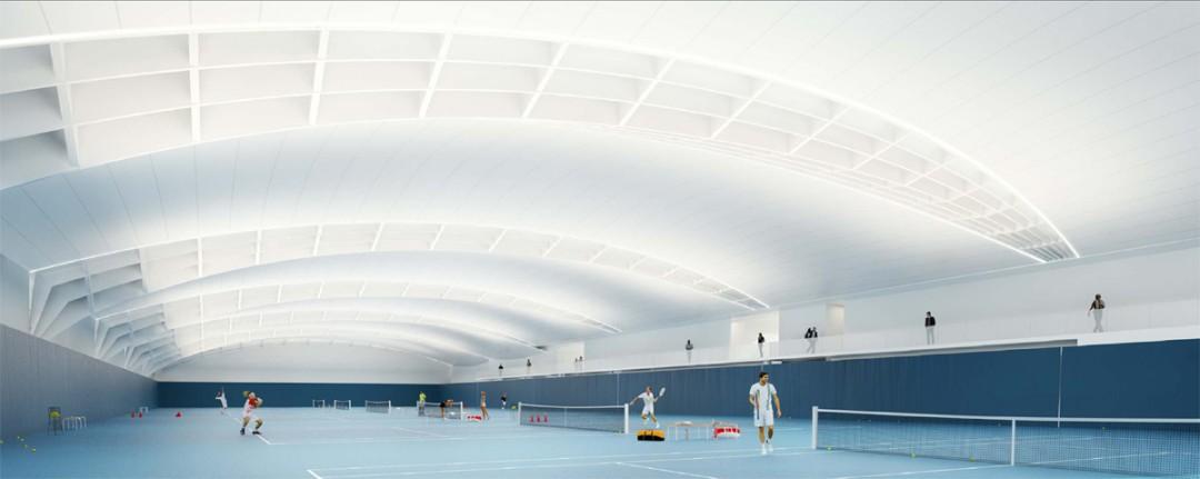 centre national d 39 entrainement de tennis marc mimram. Black Bedroom Furniture Sets. Home Design Ideas